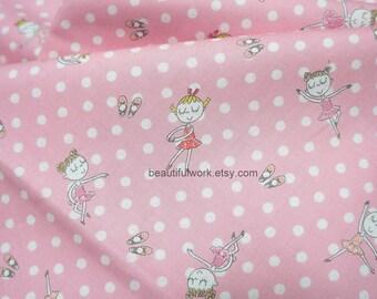 Japanese fabric Ballerina print Half meter  nc54