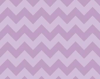 Two (2) Yards - Riley Blake Medium Sized Chevrons Tone on Tone Lavender  Quilter's Cotton Fabric C380-121 LAVENDAR