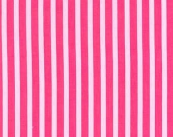 Two (2) Yards - Clown Stripe Pink Fabric Michael Miller CX3584-Girl-D
