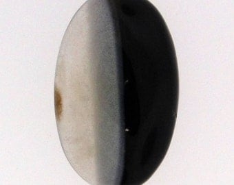 Banded Agate cabochon, lovely color split, 25.5x16mm, 18.91 carats                        001-10-059