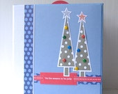 SALE HOLIDAY Christmas WInter Themed Mini Album Scrapbook with CD Folders