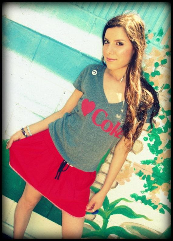 LOVE Hippie Vintage Red Flirty Mini Skirt