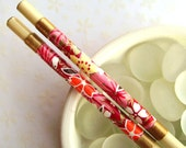 Colorful Flowers - Handmade Natural Lacquered Chopsticks
