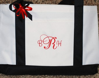 Personalized wedding bridesmaids flower girls mother of bride totes bag monogram