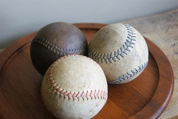 Vintage Leather Softballs