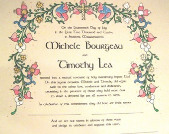 NEW SIZE - Deluxe Quaker Marriage Certificate