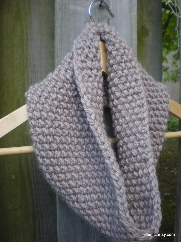 Infinity Scarf Knitting Pattern Circular Needles