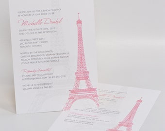 Bridal Shower Invitation, Eiffel Tower Invitation, French, Eiffel Tower, Wedding invitation, PRINTABLE