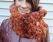 Chunky Rust Knit Cowl