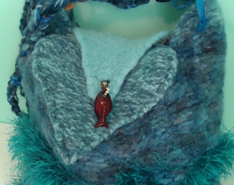 Blue Lagoon Felted Wool Purse