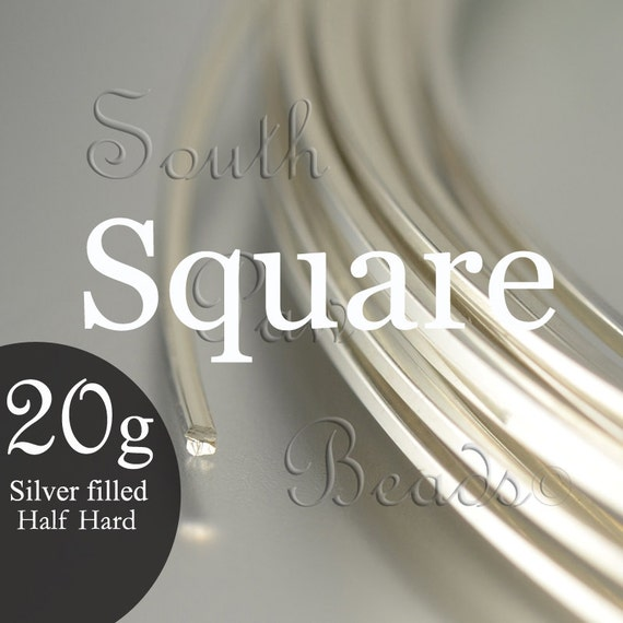 Limited Time ON SALE NOW Silver Filled Square Wire Half Hard 20 gauge, 1 troy oz (approximately 18 ft) 1/10 sterling
