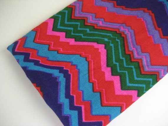 1.4Y Vintage Bright Woven Fabric with Zig Zag Design