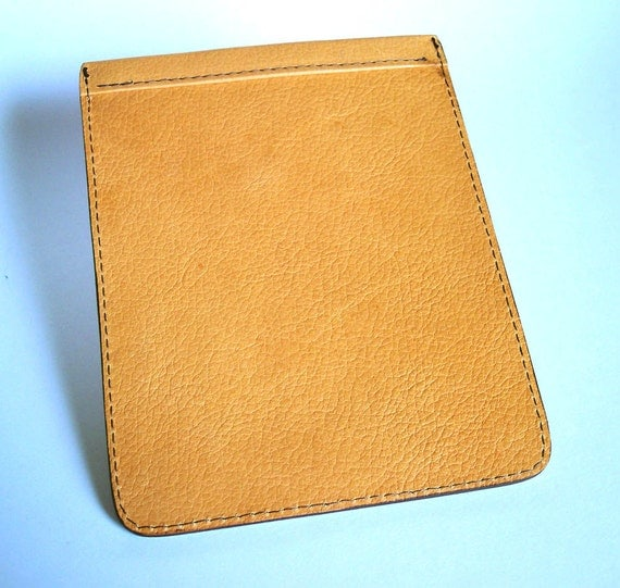 Leather Kindle Paperwhite Case - Yellow Pebble-Grain Leather
