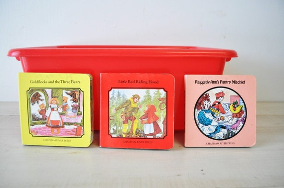 vintage instant collection childrens books--raggedy ann, little red riding hood, goldilocks and the three bears