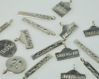 10 Sterling Silver Inspirational Charms