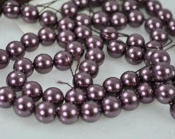 50 Burgundy Swarovski Pearls - 8mm (5810)
