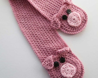Little Piggy Pocket Scarf Crochet Pattern - PDF