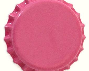 50 Hot Pink Bottlecaps Bottle Cap Bottlecap Caps Bright Embellishment Craft Blank