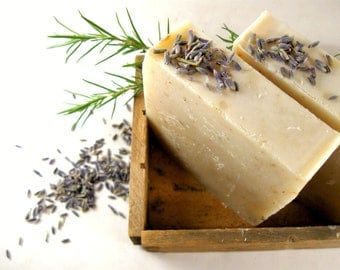 Lavender Mint Soap, Cold Process Soap, All Natural Soap, Bar Soap, Palm Oil Free Soap, Lavender Oil, Peppermint Oil Soap, Phthalate Free