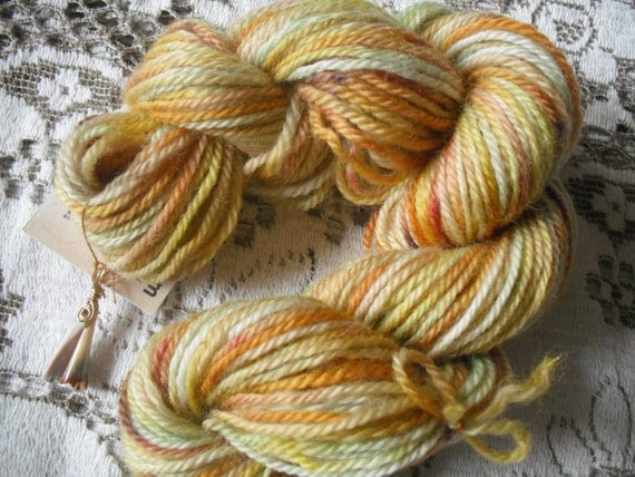 Mill Spun Yarn, Sea Shells on the Beach,   120 yds - Phat Fiber Color for July Box