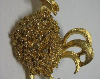 Chicken Brooch Rooster Gold Bird Pin