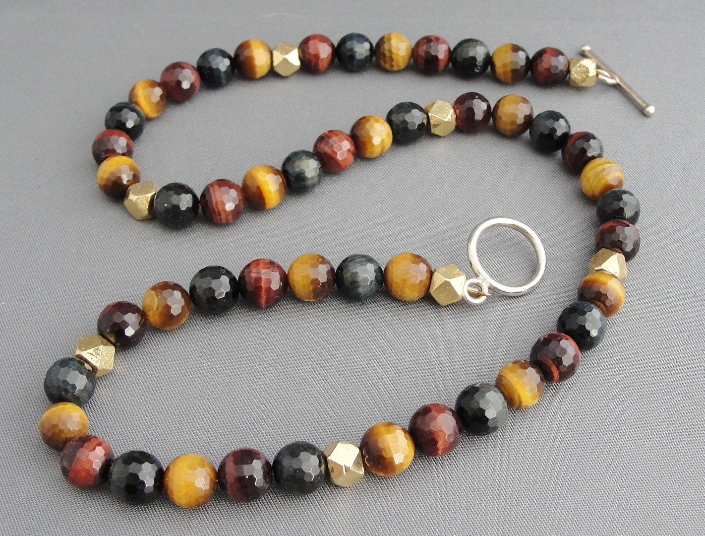 tiger eye bead necklace multi colored tigers eye by