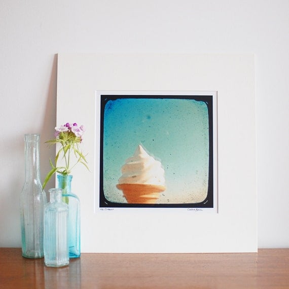 """SALE Food Photography - Ice Cream - Matted 8x8"""" print"""