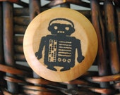 Wood Yo-Yo  - Zip the Robot