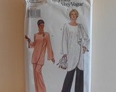 Draped Tunic and Wide Legged Pants Women's Plus Size 20, 22, 24 UNCUT Vogue 8854 Sewing Pattern