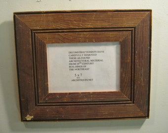 reclaimed wood salvaged picture frame 5x7 ny salvage s 539 12