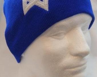 White Star of David Beanie Hat