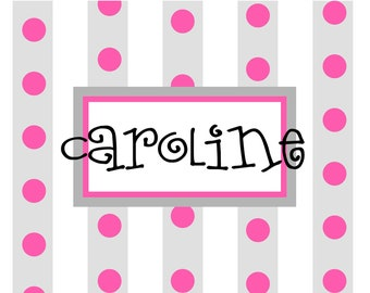 Personalized Note cards dotted cards custom whimsical notecards children stationery bridal wedding birthday  Easter