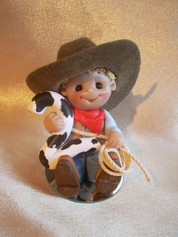 Cowboy Birthday Cake Topper Decoration Christmas Ornament