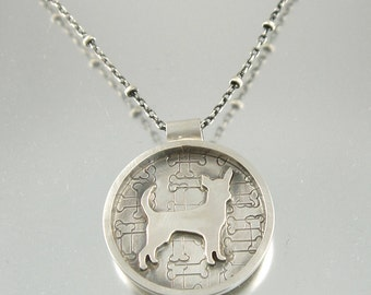 I Love My Chihuahua Sterling Necklace