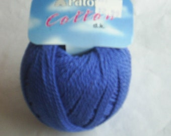 2 Patons Yarn All Cotton Red and Blue