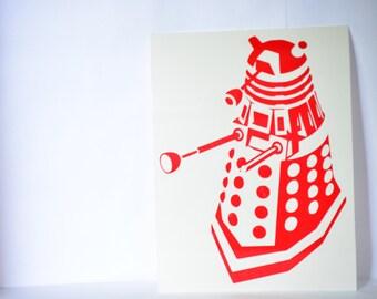 Dalek Precision Cut Vinyl Car Window Decal Sticker for Doctor Who Fans TARDIS