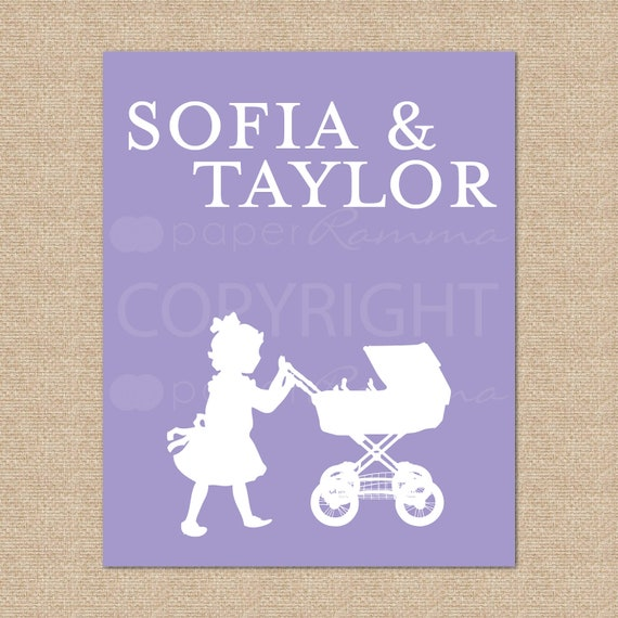 Personalized Silhouette Print // Style: My Name // N-S05-1PS QQ6