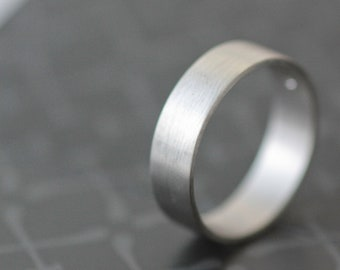 Palladium Wedding Band 5mm All Recycled Metal Hand Forged Eco Friendly Metal