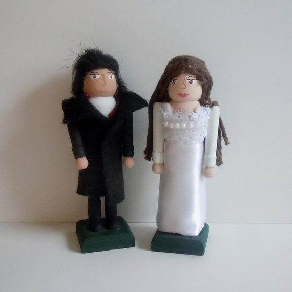 Heathcliff and Catherine Earnshaw Linton Dolls of Wuthering Heights by Emily Bronte