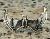Bat Bracelet Silver - Bat Cuff Bracelet - Bat Jewelry - Silver Bat - Bat Wings