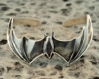 Bat Bracelet Silver Silver Cuff Bracelet Bat Cuff Bracelet Bat Jewelry Silver Bat Wing Jewelry Bat Art Bat Lover Halloween Jewelry