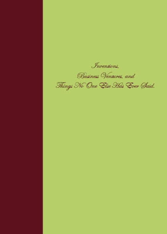 Reserve Listing: Custom 5 x 7 inch blank journal, extra pages and chapter headings