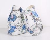Small Everyday Bag,Shoulder bag,Linen bag ,Linen with flowers