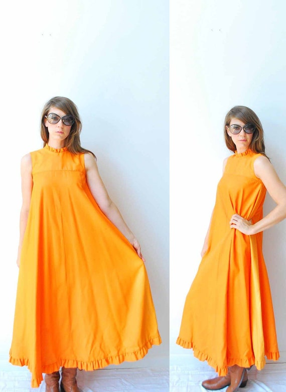 Reserved - 60s Mod Maxi dress, Party Dress by Carol and Mary