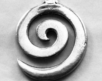 Celtic  Spiral - 1 bale celtic spiral pendant 1 bail Australian Pewter R388