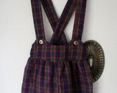 Vintage Girl's Tartan Jumper - size 3