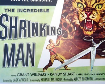 The Incredible Shrinking Man Vintage Sci-Fi Movie Poster Book Print 10 x 14 Horror Movie