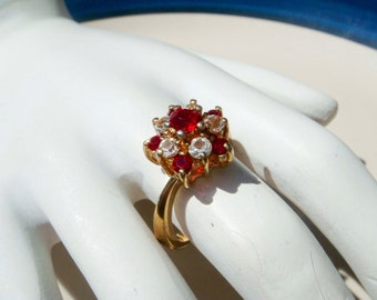 Vintage 14K Gold HGE Ruby Esposito Ring size 7