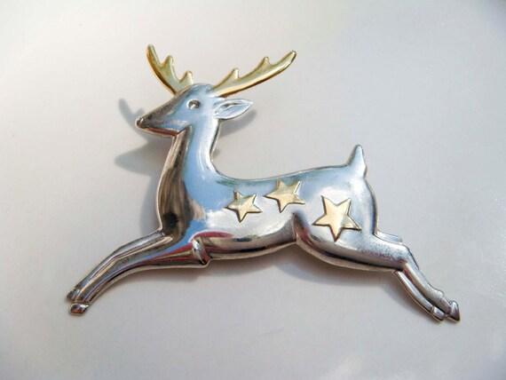 Vintage HMK CDS Reindeer Pin Hallmark Cards
