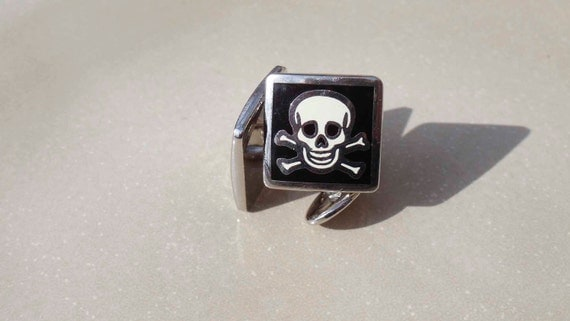 Jolly Rodger Cuff Links Vintage